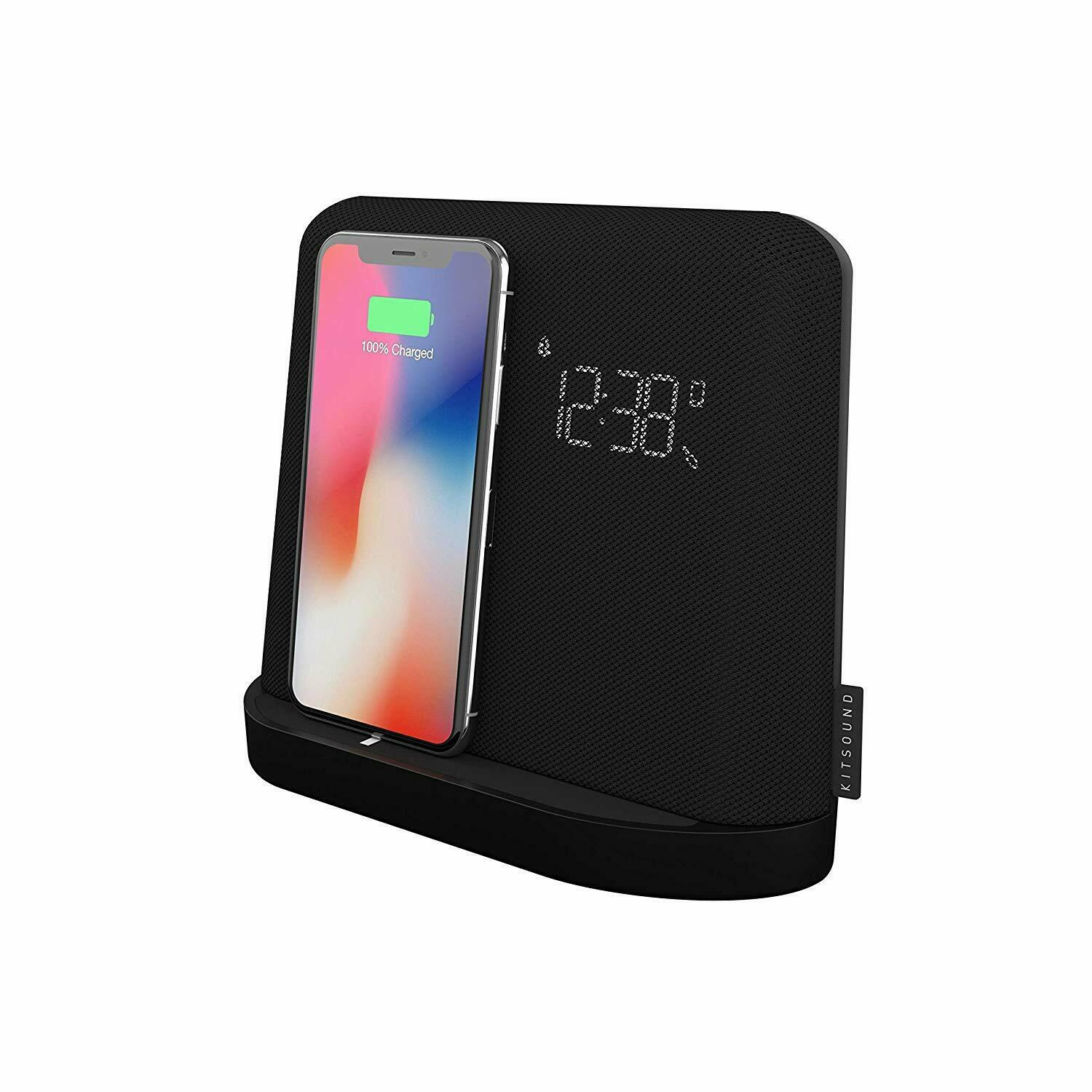 timeless design ce56b 0bcee Details about KitSound Speaker Wireless Qi Charging Docking Station for  iPhone Xs MAX X 8 8
