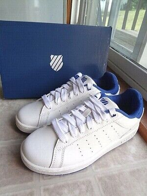 Free Shipping Youth 4.5 or 5 K-Swiss Clean Court Leather Sneaker