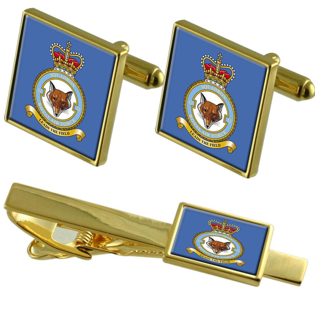 Royal Air Force Force Force 2 Ac Squadron oro Gemelli Fermacravatta Set Coordinato f6d559