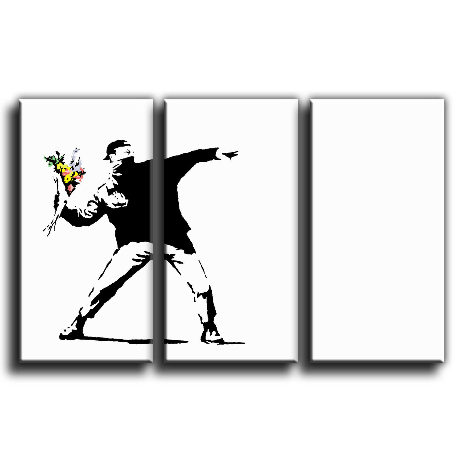 Fleur lance treble banksy treble lance toile murale art photo print 8c9a51