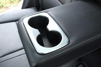 Back Seat Cup Drink Holder Chrome Matt Garnish Cover for Kia Sportage 15-17 QL