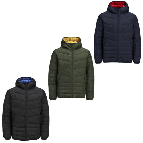 Jack /& Jones Originals Mens Puffer Jacket Hooded Padded Puffa Coat Jorstone