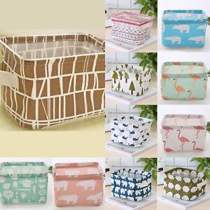 Foldable-Laundry-Basket-Sundries-Bathroom-Handle-Clothes-Cabinet-Storage-Box-Hot