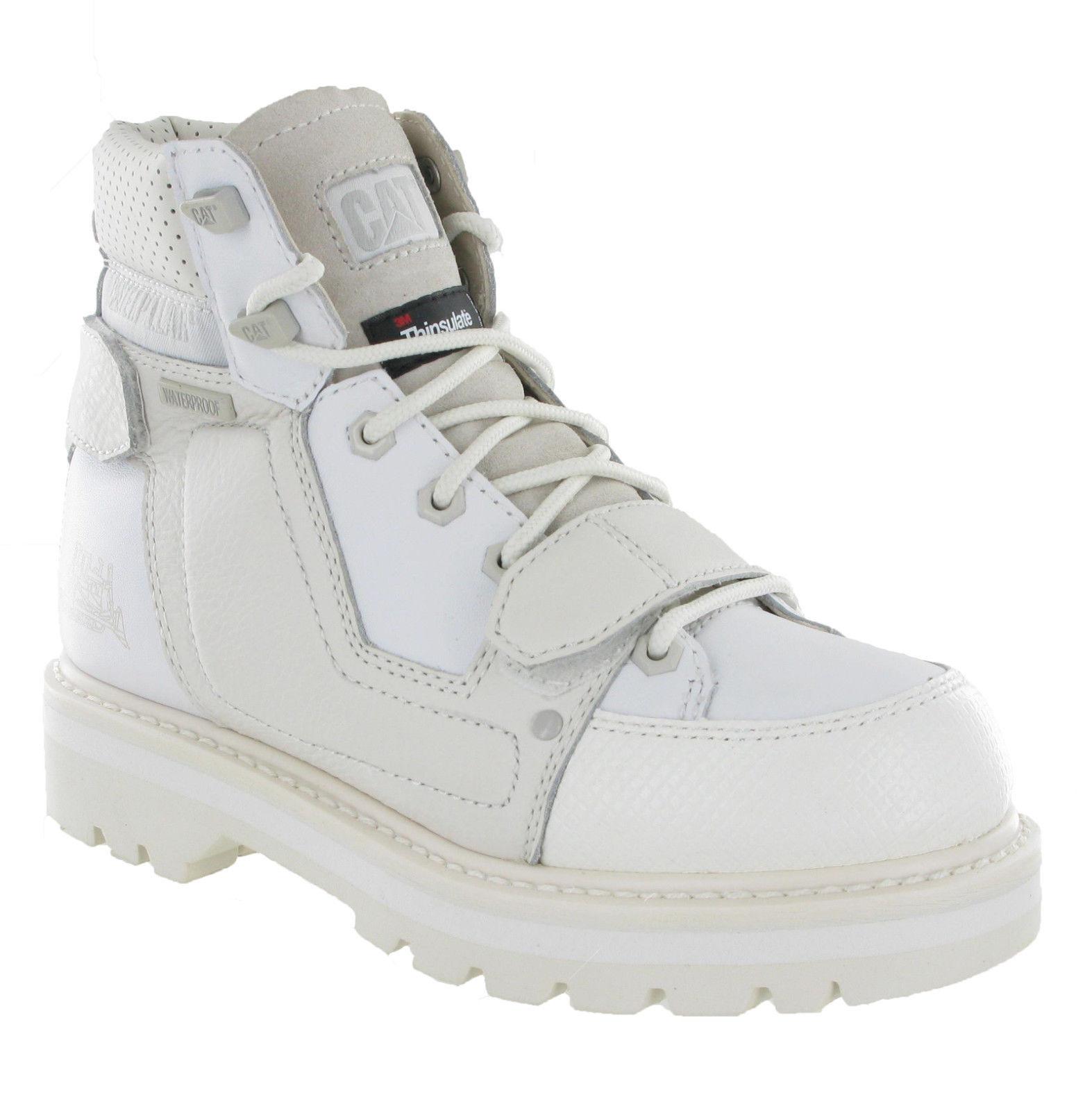 Caterpillar CAT Volt Mid Leather Lace Up Hombre Fashion Fashion Fashion HI-Top Ankle botas 855471