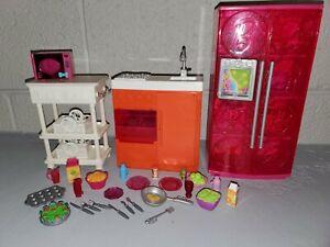 Barbie-House-Glam-Dream-Beach-Dollhouse-Kitchen-Fridge-Furniture-Food-Accessory