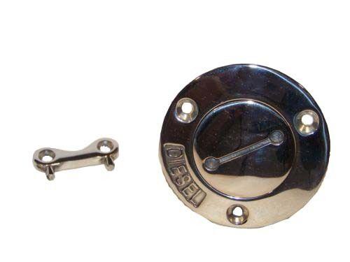 """Stainless Boat Diesel Tank Deck Fill port w//key 1 ½"""""""