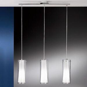 Lampadario sospensione a 3 luci moderno cromato collezione glo 89833 ebay - Lampadari da cucina artemide ...