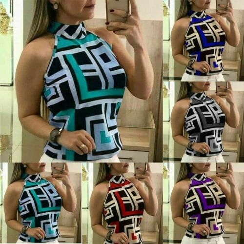 Tee Tops Sleeveless Summer Fashion T-Shirt Casual Blouse Slim Top Vest Ladies