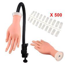 Adjustable Practice Nail Art Trainer Training Model Hand Tool +500 Gel False Tip
