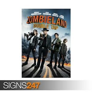 ZOMBIELAND-2-DOUBLE-TAP-WOODY-HARRELSON-ZZ077-MOVIE-POSTER-Poster-Print