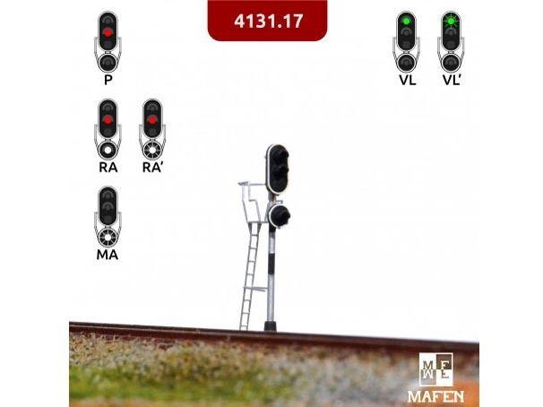 Mafen 4131.17 - RENFE-Signal 3 3 3 Lichter grün rotweiß Finescale - Spur N - NEU  | Räumungsverkauf  e7d99c