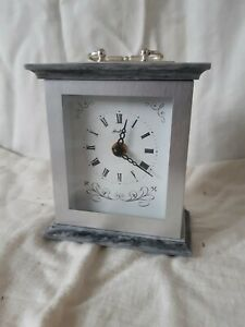 Vintage-Old-Bentima-Clock-Faux-Marble-70s-80s
