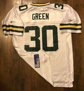 e5c624958e Green Bay Packers Ahman Green  30 Reebok NFL Football Jersey Men s ...