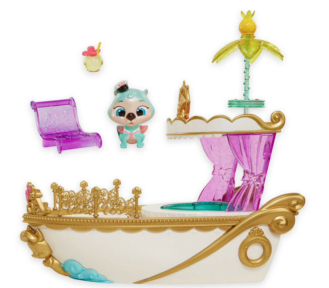 LOT 3 - Palace Pets SS Royal YACHT Otto Boat Boat Boat + BIBBIDY Pony + Rapunzel Meadow 672c5d