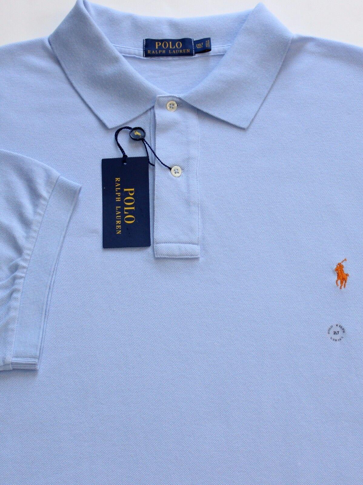 a1dcd035 New Polo Ralph Lauren Pebble bluee Cotton Mesh Polo BIG 3X ...