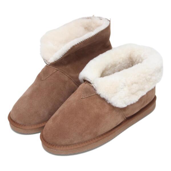 Abile Deluxe Donna Stivali Di Pelle Di Pecora Pantofola Con Polsino Pieghevole-restituzioni Gratis