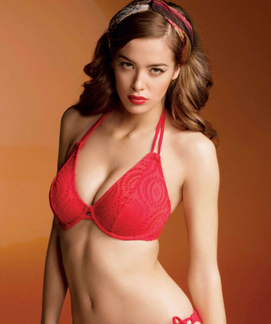 fae8af0989396 Brand New Freya Swimwear Cha Cha Halter Bikini Top Red 3293 VARIOUS SIZES