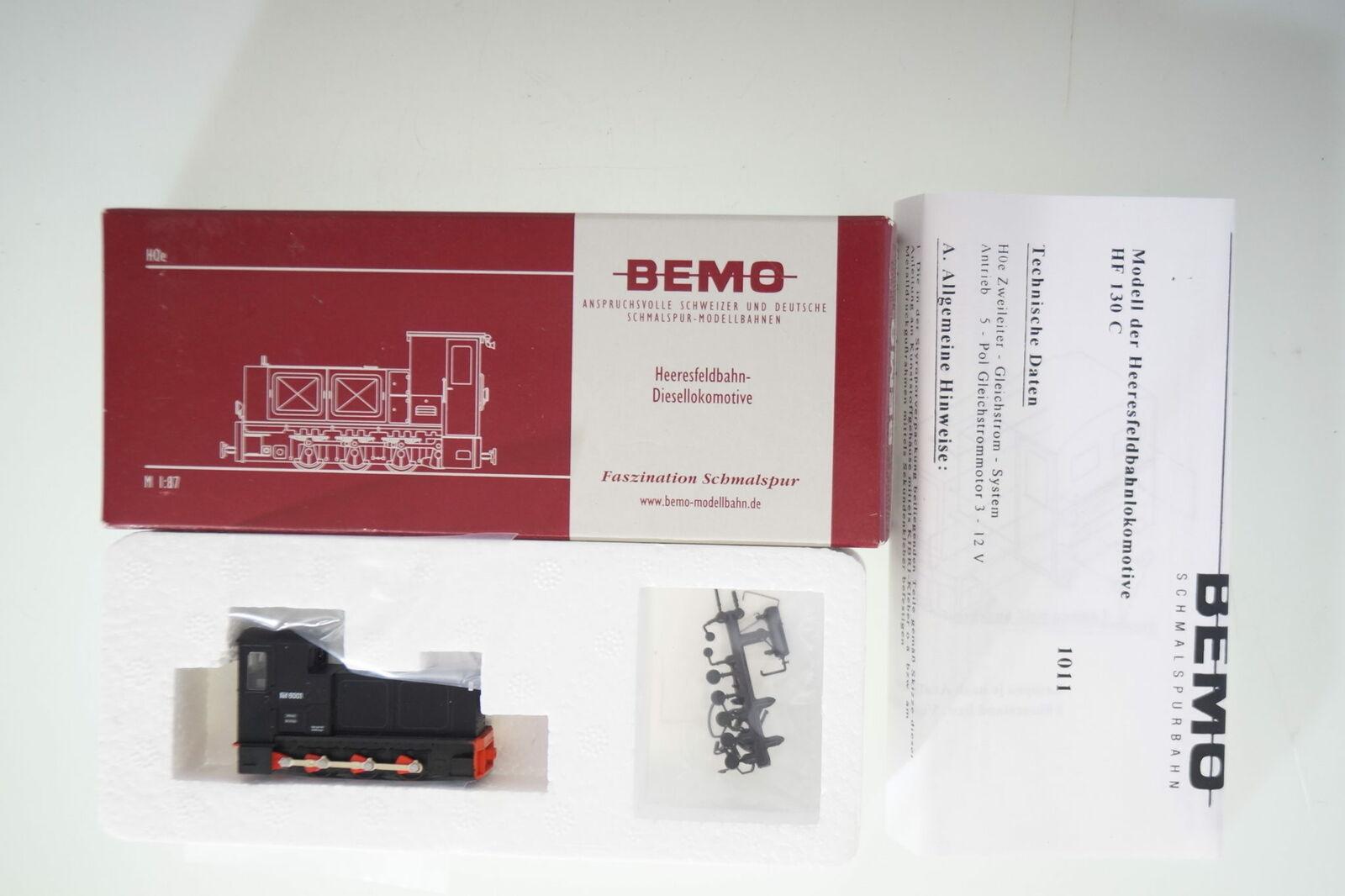 H0e Bemo 1011 854 K-f 6001 Heeresfeldbahnlok, nuevo ovp