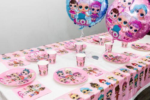 LOL surprise poupées Fête D/'Anniversaire Fournitures De Plaques Tasses Serviettes Vaisselle ballon