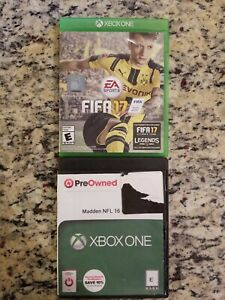 FIFA-17-AND-MADDEN-NFL-16-Xbox-One-Soccer-FOOTBALL-LOT-OF-2-gameS-FREE-SHIP