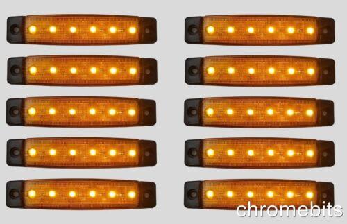Set De 10 12V LED Orange Feu Position Côté Camion Remorque Utilitaire SUV Bus