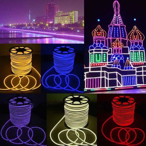 DC12V 5050 RGB 80LEDs//M Neon LED Strip Light  Rope Wire Waterproof Flexible DIY