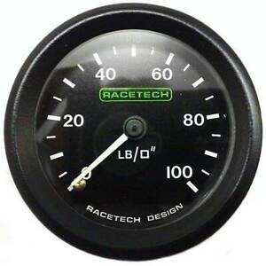Racetech-Mechanical-Oil-Pressure-Gauge-0-100-PSI-With-1-8-034-BSP-Nipple-Fitting