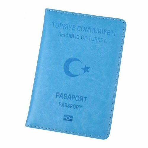 Turkey Passport Holder Turks Eco Leather Travel Cover Turkish Pasaport Turk ID