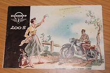 Zundapp 200 S Sales Folder 1957