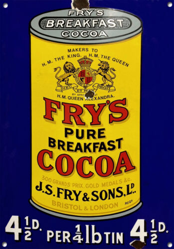 FRY/'S COCOA,Vintage style Enamel Collectable Metal sign No.610