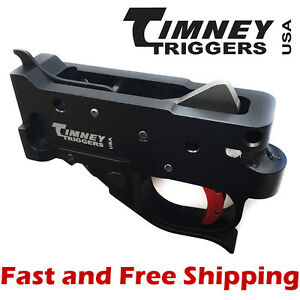 Timney Drop In Competition Trigger Group for Ruger 10/22 - Black Housing w/Red 81950102228