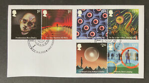 GB 2021 CLASSIC SCIENCE FICTION SET PIECE EX FDC FOR FINE USED SET