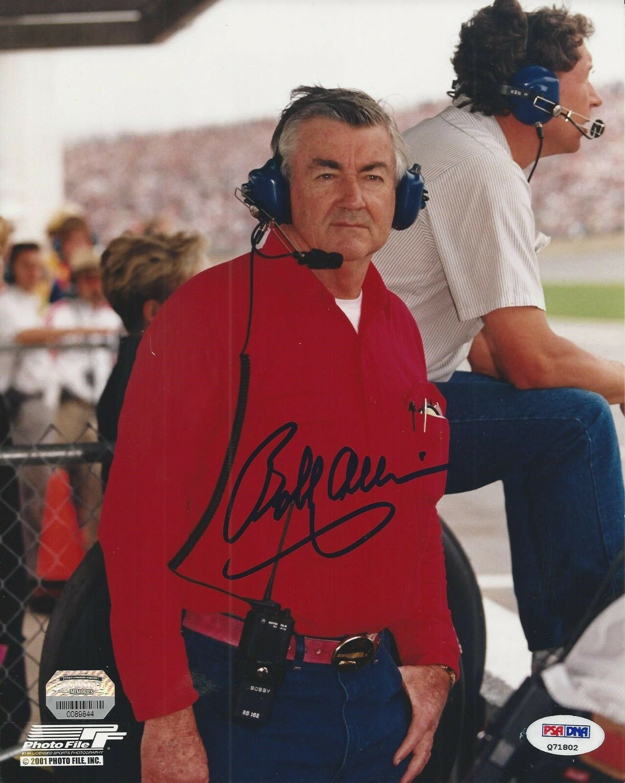 Bobby Allison signed NASCAR 8x10 PSA/DNA # Q71802