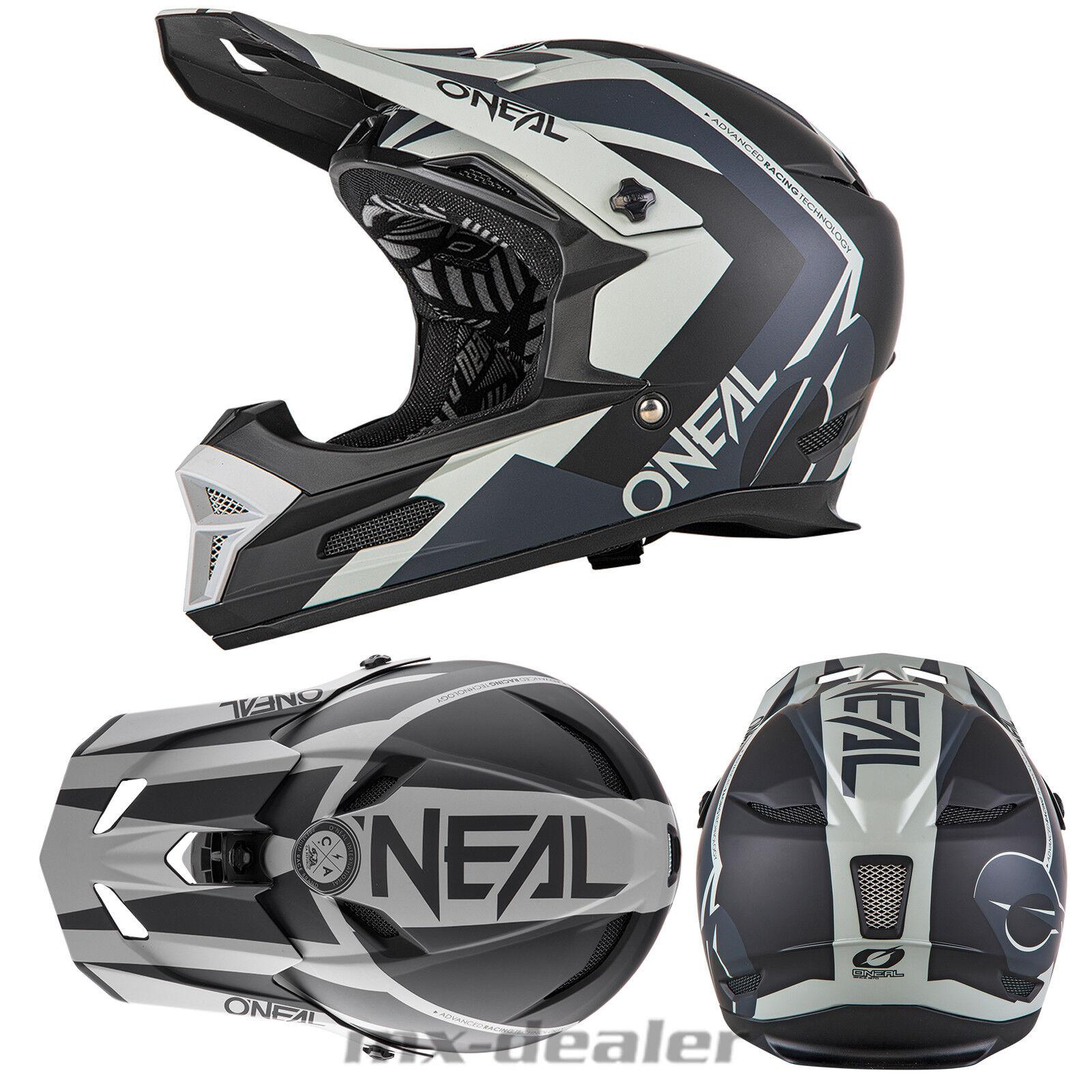 O'Neal 19 Fury Rl Hybrid Negro MTB Dh Downhill Casco Freeride Go pro Soporte