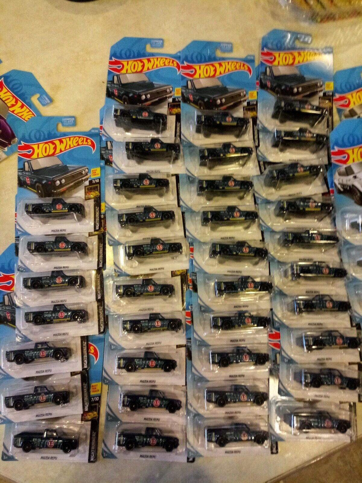 2019 Hot Wheels Mazda REPU F Case Nightburnerz  Lot of 36