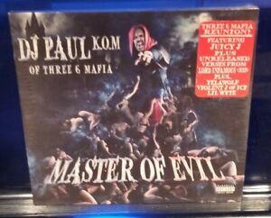 DJ-Paul-Master-of-Evil-CD-SEALED-Three-Six-Mafia-3-6-insane-clown-posse-icp