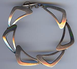 Modernist Sterling Bracelet