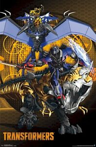 Image Is Loading TRANSFORMERS AGE EXTINCTION MOVIE POSTER DINOBOTS 22x34 Optimus
