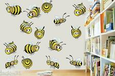 Wall sticker daycare nursery ROOM BOY GIRL BABY abeille - 15x FUNNY HONEY BEES