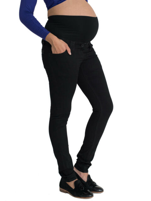 c23da5eeea46f Skinny Black Maternity Jeans, Over Bump, Petite, Long, Plus Size for  Pregnancy
