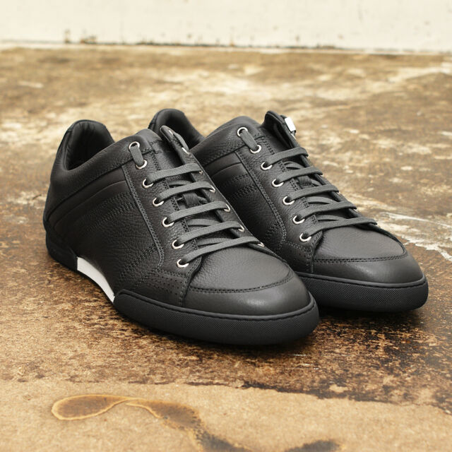 NEW Mens Dior Homme Grey & White Leather Low Trainers Sneakers GENUINE RRP: £395