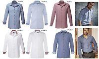 Herren Bügelfreies Hemd Business Anzug Smoking Freizeit Hemden Langarm Slim Fit
