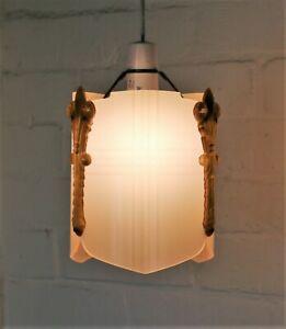 Details About An Original 1920s Antique Art Deco Lucite Perspex Ceiling Light Lampshade