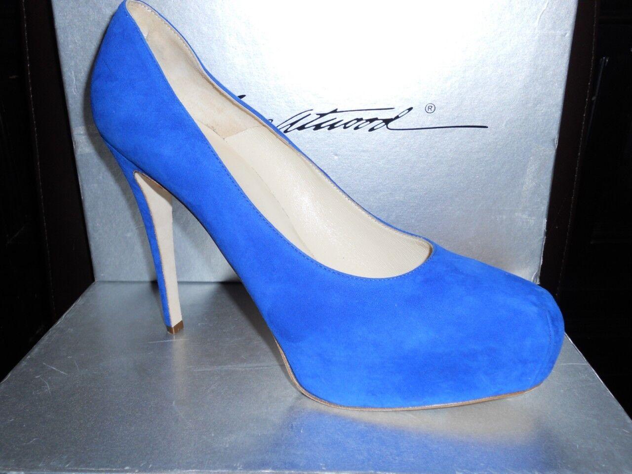 Brian Atwood MANIAC blau 41 Suede Platform Heels Pumps schuhes 41 blau EU fb684b