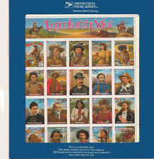 2870 RECALLED LEDGENDS OF THE WEST ERROR WITH THE BLUE ENVELOPE