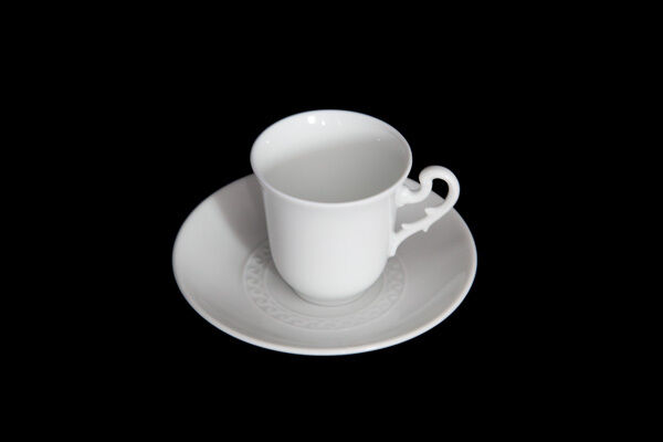 Richard Ginori - Museo Bianco - 12 tazze caffè con piatto - Rivenditore