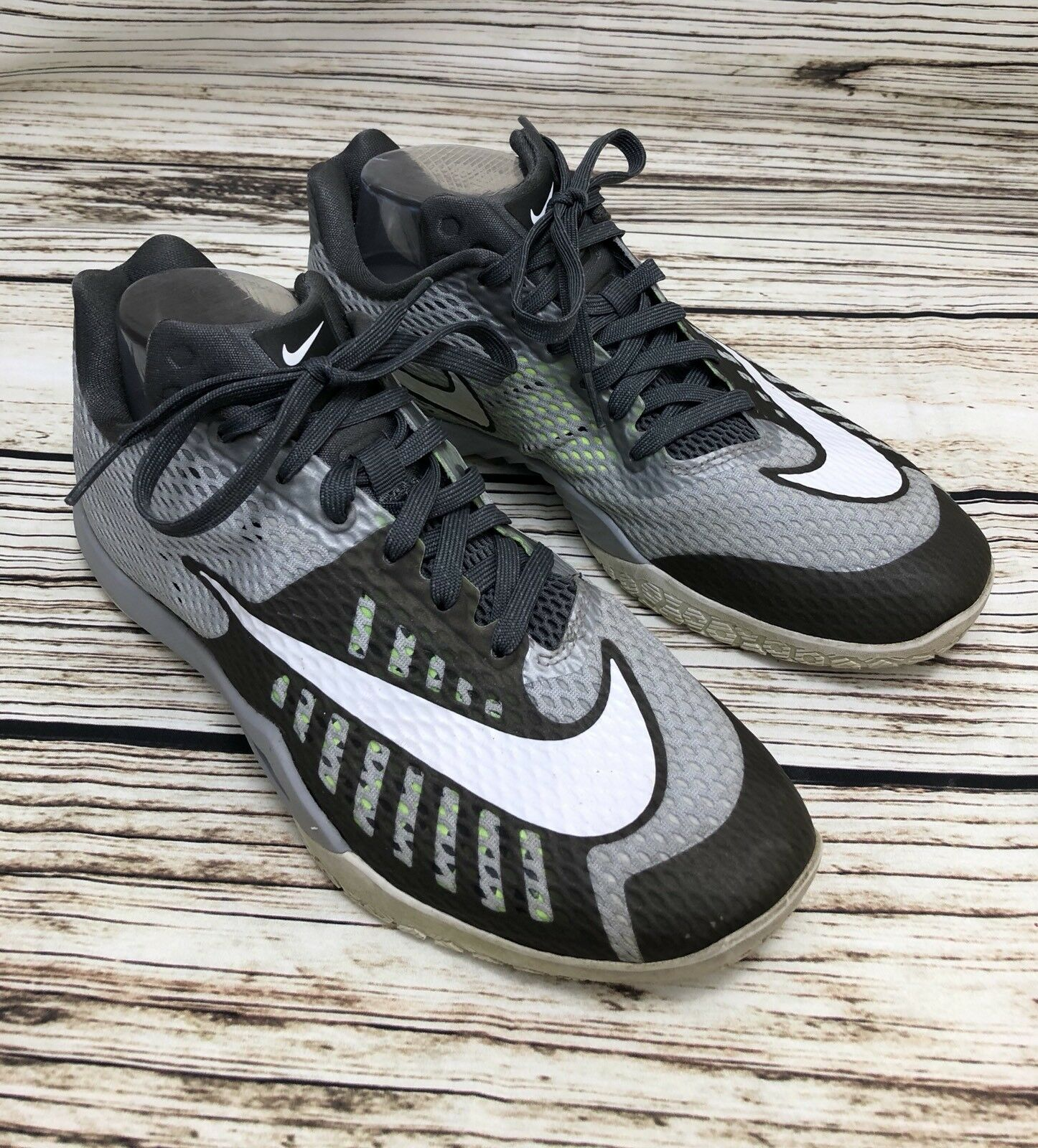 Mens NIKE HYPERLIVE 4819663-010 Gray Basketball Shoes Sneakers SIZE 10