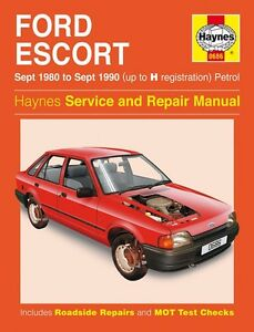 haynes owners workshop manual ford escort xr3 rs turbo 80 90 rh ebay com 1984 Ford F-150 1969 Ford Mustang