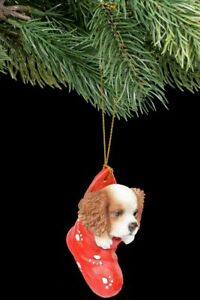 Weihnachtsdeko Hund.Details Zu Christbaumschmuck Hund King Charles Spaniel Im Strumpf Weihnachtsdeko Welpe