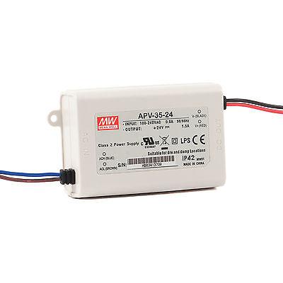 12 Watt LED Driver // Power Supply to IP42 24V DC Mean Well APV-12-24 C.V 12W